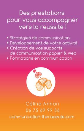 Carte Visite Communication Therapeutes